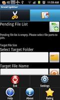 Screenshot of Droid Splitter