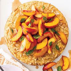Peach and Basil Shortcake