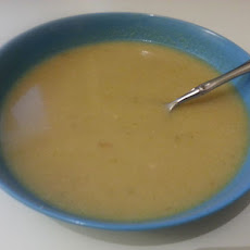 Vegan Celeriac Leek Soup (and Non-Vegan Edits)