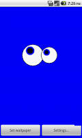 Screenshot of Googly Eyes Live Wallpaper