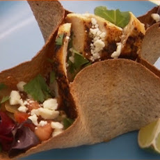 Adobo Grilled Chicken Salad in a Tortilla Bowl