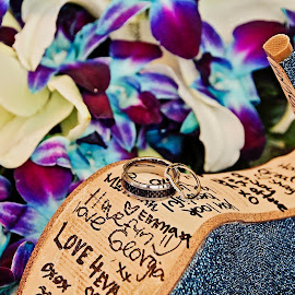 Messages of Love by Alan Evans - Wedding Details ( wedding photography, wedding shoes, wedding day, wedding, aj photography, wedding flowers, congratulation notes, geelong wedding photographer, wedding rings, wedding details )
