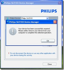 Phillips Go Gear SA-31xx Media Player Successfully Repaired