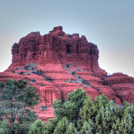 Red Rock by Nancy Tharp - Landscapes Mountains & Hills