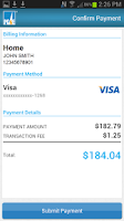 Screenshot of PG&E Mobile Bill Pay