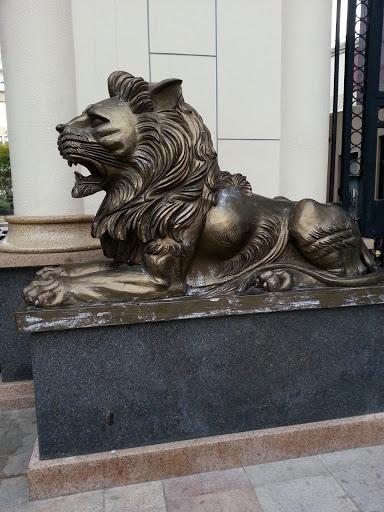 聚宝石狮子