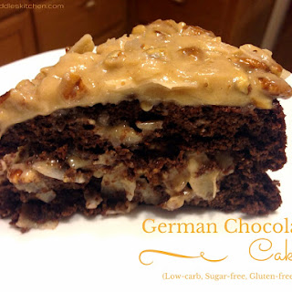 German Chocolate Cake (low-carb, sugar-free)
