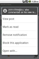 Screenshot of MB Notifications for Facebook