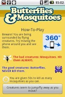 Screenshot of Butterflies and Mosquitoes
