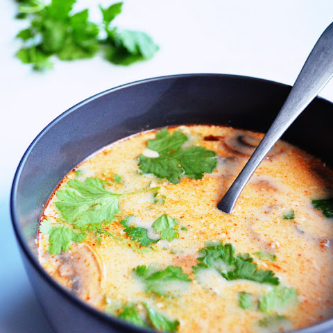 slow cooker Tom Kha Gai (Thai coconut soup)