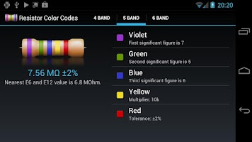 Screenshot of Resistor Color Codes