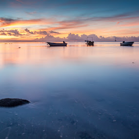 Mertasari Beach, Sanur, Bali  by Aloysius Alphonso - Landscapes Waterscapes