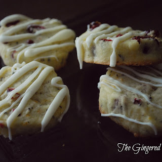 Cranberry Orange Thyme Shortbread Cookies
