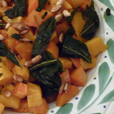 Roasted Butternut Squash with Fried Sage and Spiced Seeds