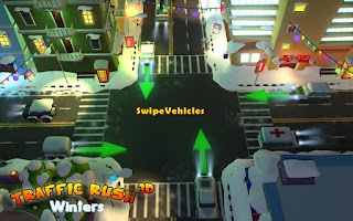 Screenshot of Traffic Rush Winters 3D