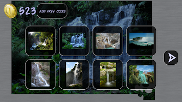 Screenshot of Waterfalls Puzzle HD