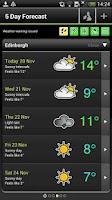 Screenshot of Met Office Weather