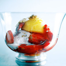 Strawberry-Mango Parfaits with Ginger Topping