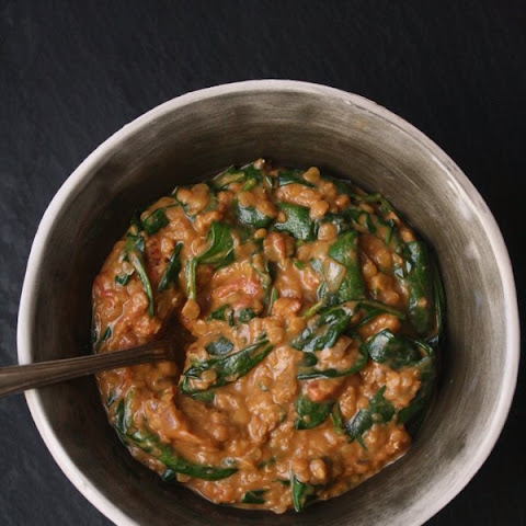 Red Lentil and Spinach Masala