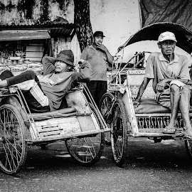 Becak by Taufan F Adryan - City,  Street & Park  Street Scenes
