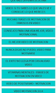 Motivación en Video - screenshot