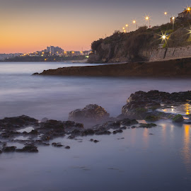 sunset in ocean by André Martins - City,  Street & Park  Skylines ( sunset, ocean, beach, slow, portugal )