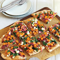 Butternut Squash, Spinach and Goat Cheese Pizza