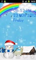 Screenshot of Winter Sky Live Wallpaper