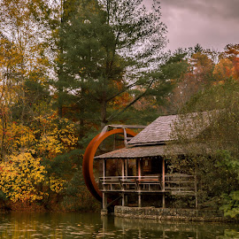 Fall at the Mill by Bill Killillay - Buildings & Architecture Public & Historical ( orange, 5dmk3, mill, red, killillay, fall colors, xi foto, fall, long exposure, fall color )