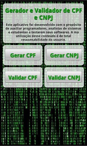 Gerador e Validador CPF e CNPJ