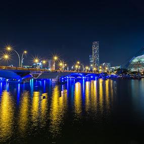 City Lights by Reza Roedjito - City,  Street & Park  Night ( city scape, travel destination, urban, night scene, city lights, Lighting, moods, mood lighting )