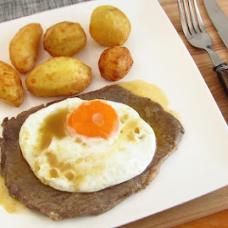 Veal Steak With Egg