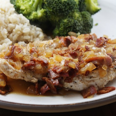 Chicken w/ Cider & Bacon Sauce