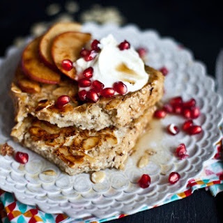 French Toast with Apples, Pomegranate, & Greek Yogurt.