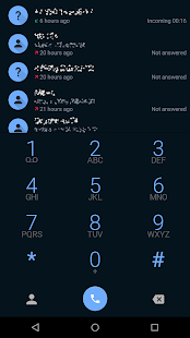 exDialer MidNight theme - screenshot
