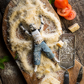 Parmesan Angels by Darryll Jones - Food & Drink Meats & Cheeses ( italian, tomato, snow, funny, eric, parmesan, stormtrooper, cheese, angels )
