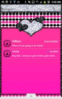 Screenshot of GO SMS - Polka Dots Hearts