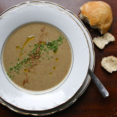 Coconut Curried Green Lentil Soup