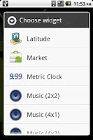 Screenshot of Metric Clock Widget