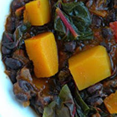 Black Bean Chili with Butternut Squash and Swiss Chard