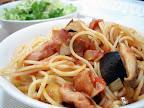 【自炊】ベーコンと茄子のトマトソースパスタ
