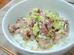 【自炊】ねぎ塩だれ豚丼