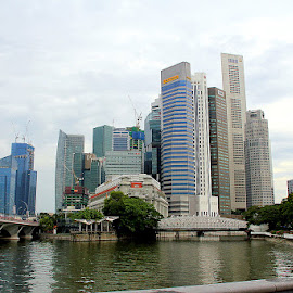 Marina Bay Financial Centre by Leong Jeam Wong - City,  Street & Park  Skylines ( basin, bay, apartment, finance, sail, marina )
