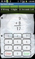 Screenshot of Mad Math Minute