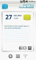 Screenshot of EmoCube Social Diary