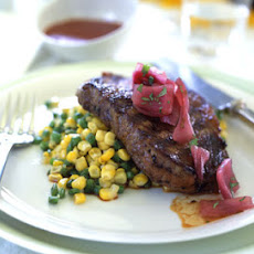 Grilled Steaks with Red Chile Sauce