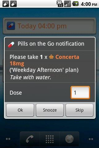 pills-on-the-go-free for android screenshot