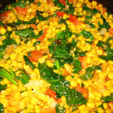 Corn, Spinach and Tomato Medley