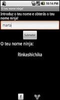 Screenshot of O teu nome ninja!