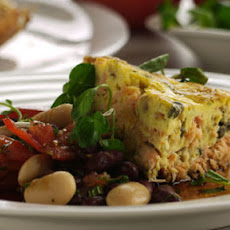 Salmon And Smoked Salmon Frittata